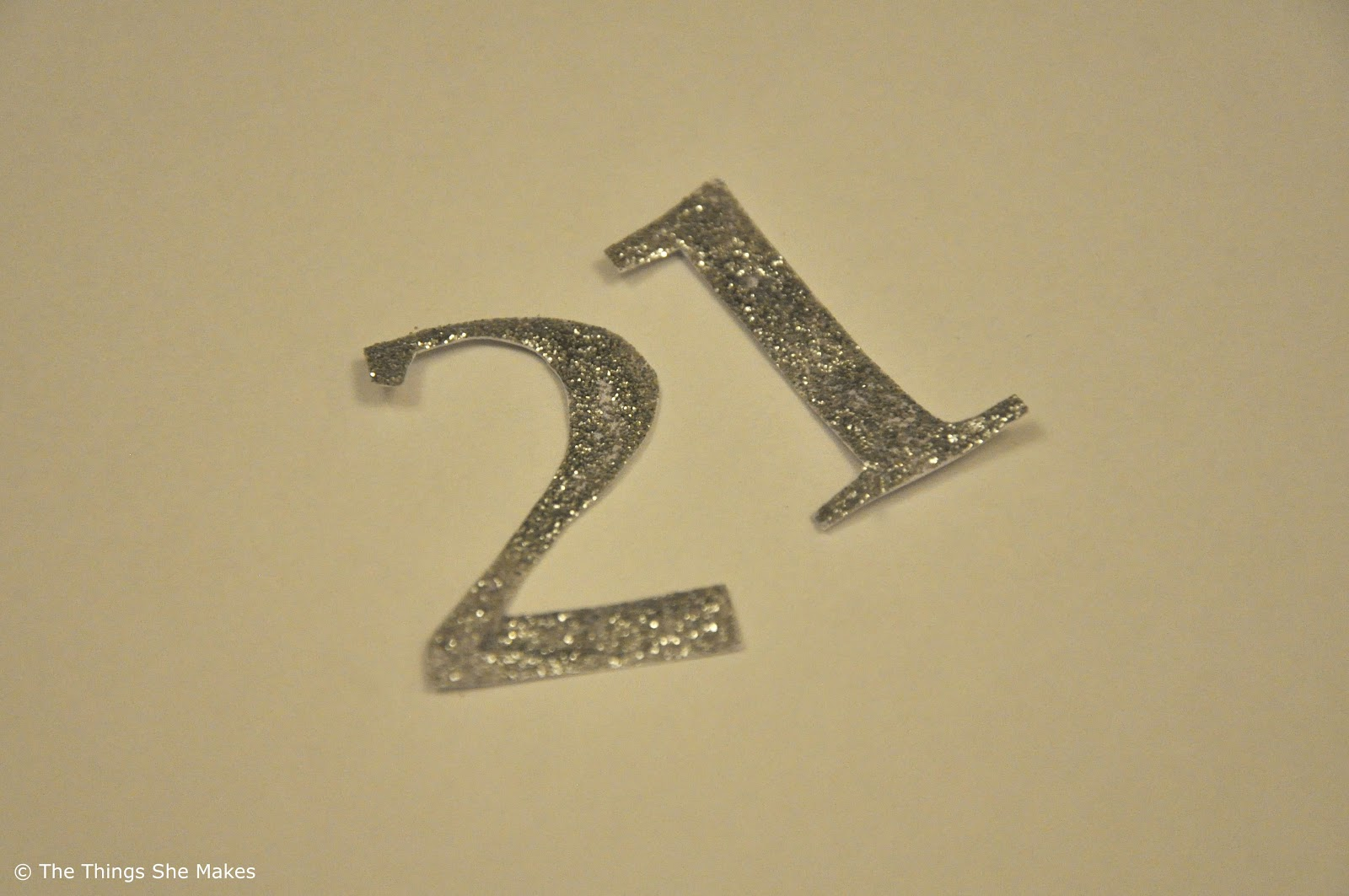 Glitter Letters, Numbers and Shapes | The Things She Makes