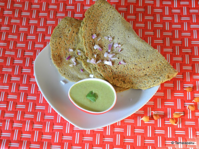 Sprouted Kala Chana Dosa