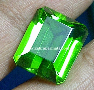 Batu Permata Green Tektite + Memo - ZP 346