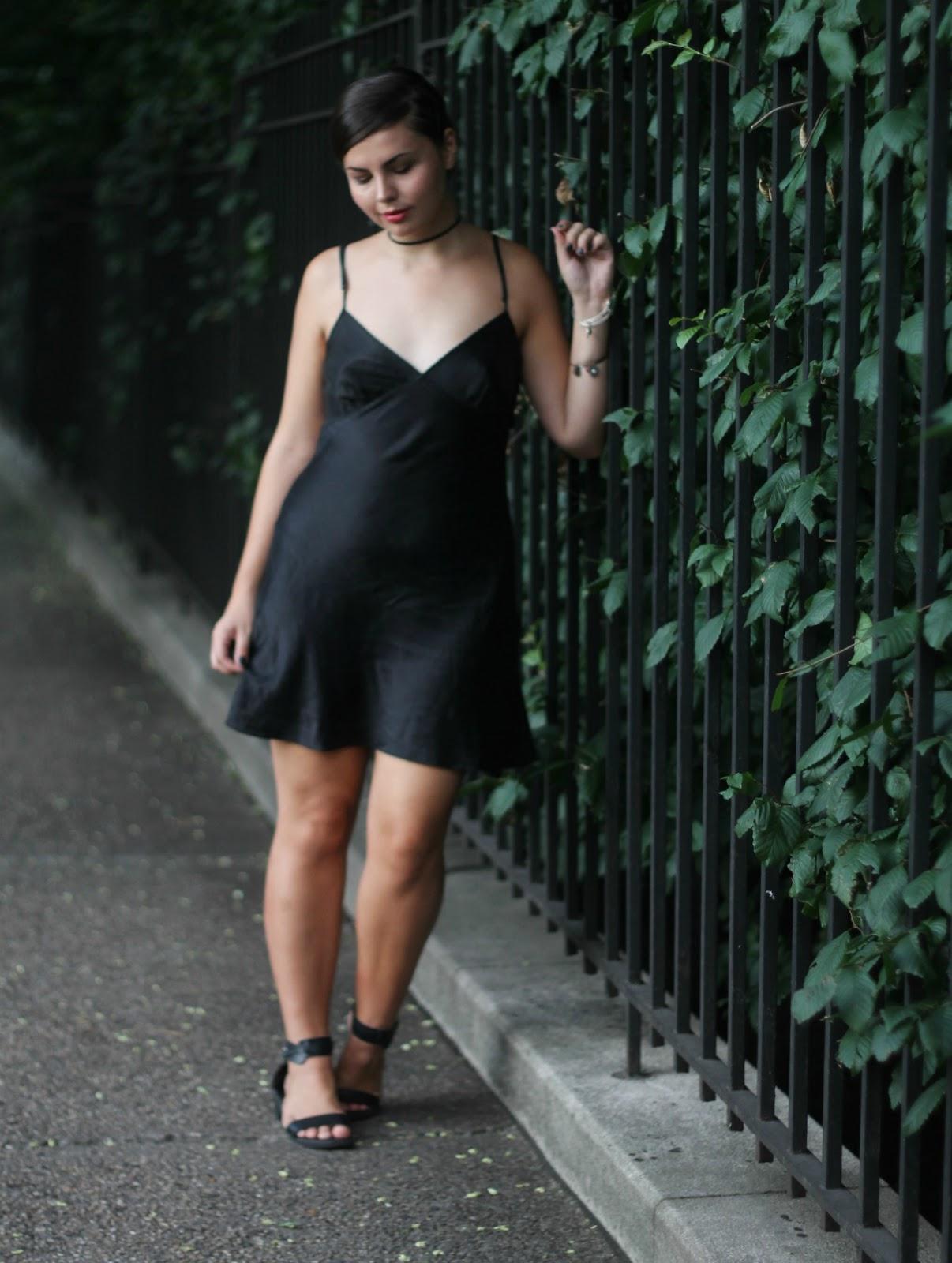 thrifted slip dress