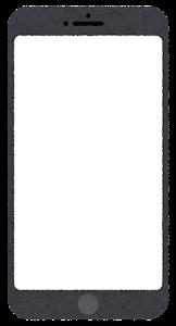 スマートフォンのイラスト1(ブランク)