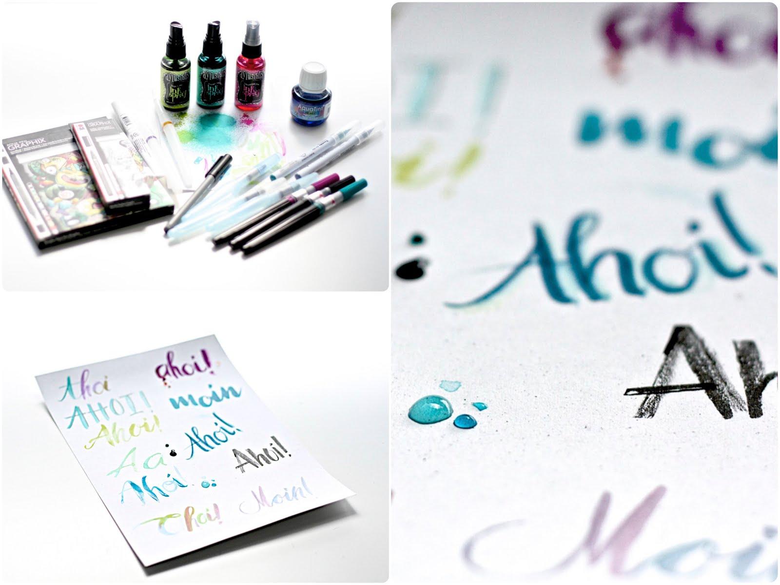 monate hand lettering