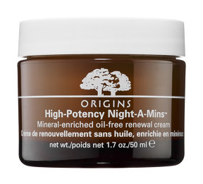Crème de nuit High-Potency Night-A-Mins Oil-Free de chez Origins