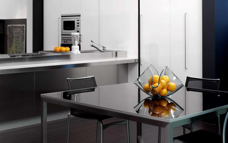 Desain Meja Dapur Dari Kaca Fiberglass Untuk Rumah Minimalis