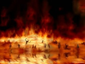 Image result for consumed by fire clipart