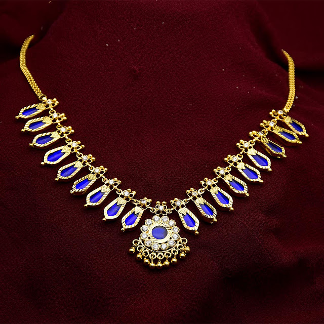 453ad28fd ... Kerala Trivandrum Jewellery: Traditional One Gram Gold Nagapadam  Necklace Buy Online