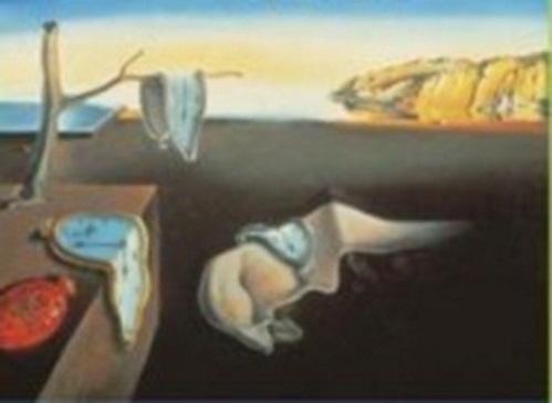 A Persistência da Memória, pintura do artista surrealista Salvador Dalí. #PraCegoVer