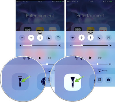 Control Center Flashlight