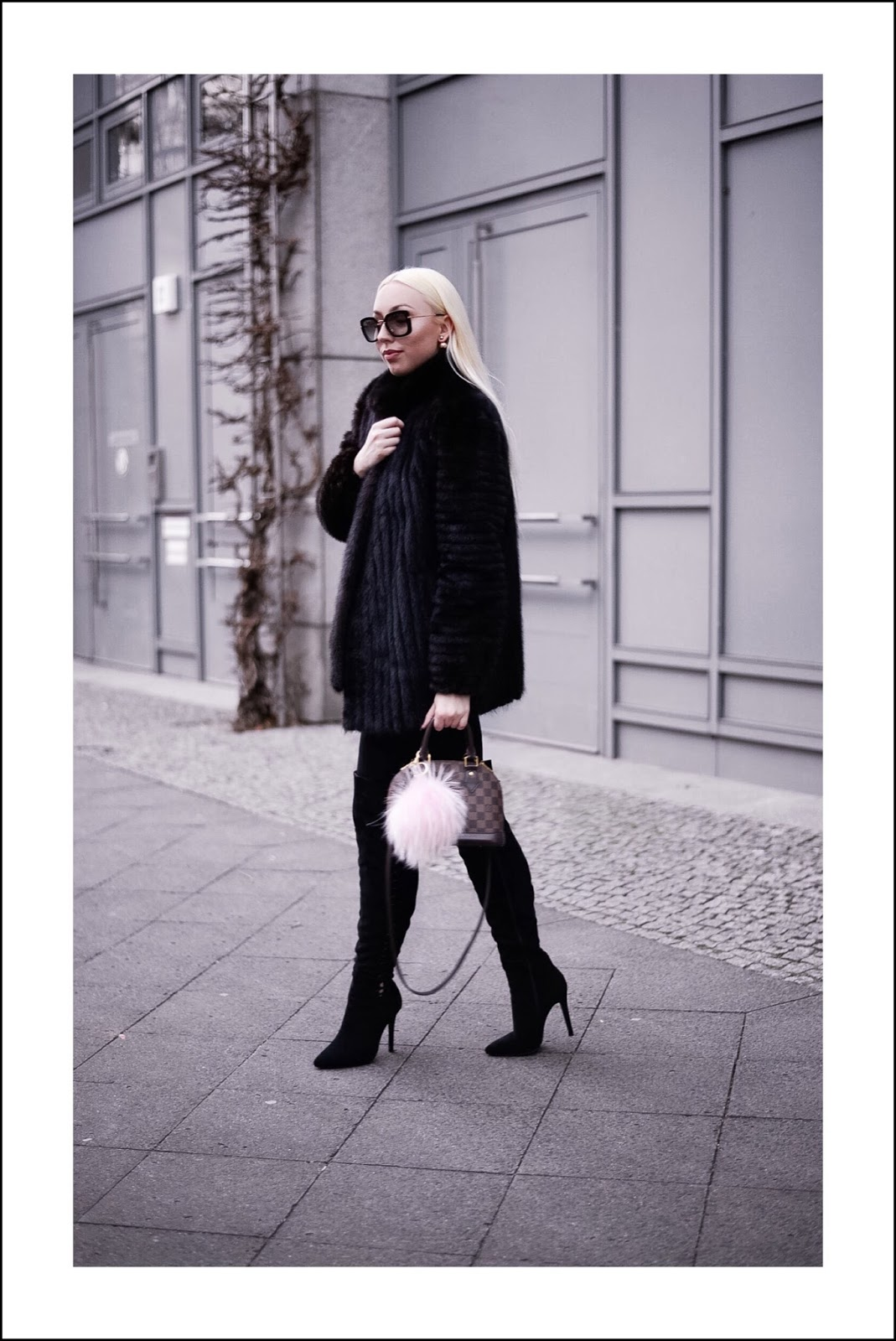 date night outfit_fur coat