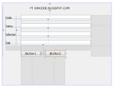 17 - Tutorial 4 Pemrograman Java Netbeans  – Disain Form Dengan Tombol Hapus Dan Tombol Keluar