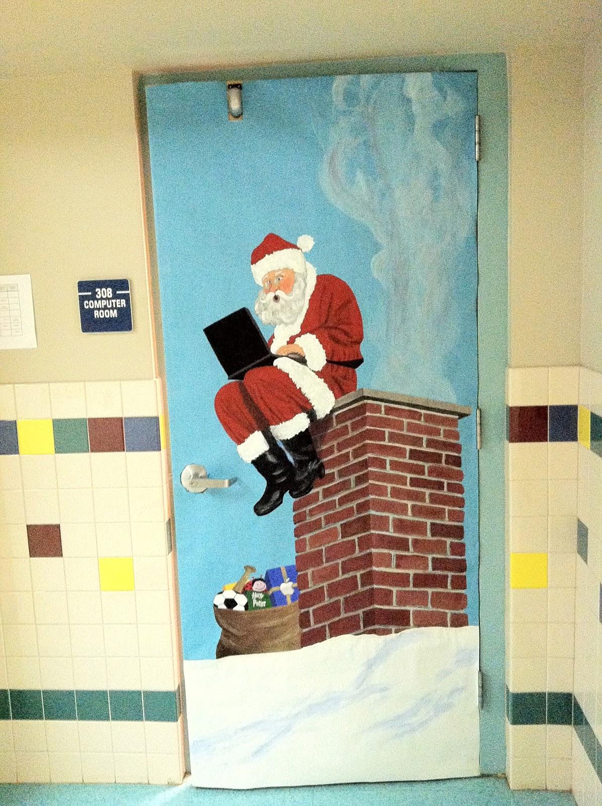 Mr First Grade Christmas Door Contest