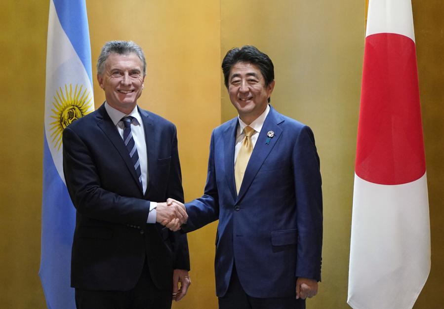 reunion Mauricio Macri y Shinzo Abe