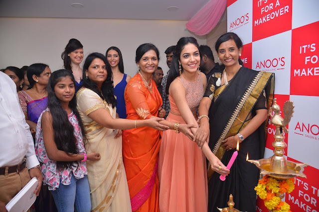Actress Ritu Varma Launches Anoos franchise salon & clinic at Madinaguda