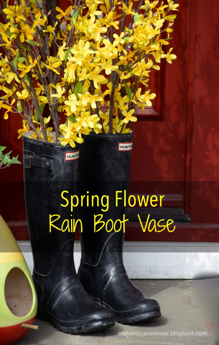Spring Flower Rain Boot Vase | Ms. Toody Goo Shoes