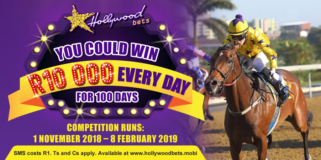 Horse Racing Promotion - You could win R10 000 for 100 Days - Competition runs 1 November 2018 to 8 February 2019 - T&Cs apply