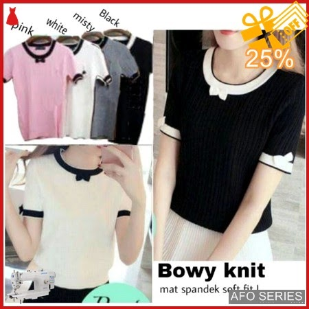 AFO302 Model Fashion Bowy Knit Modis Murah BMGShop