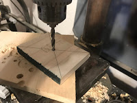Drilling a 5 mm hole