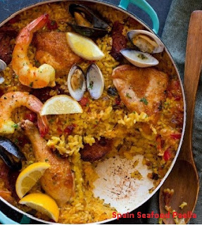 Spain Seafood Paella Recipe