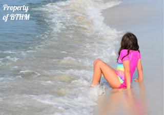 sitting in surf