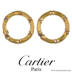 Queen Maxima wore Cartier Gold Bamboo earrings