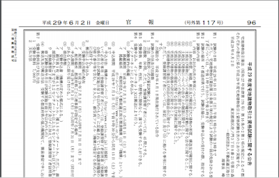 官報公告 - 平成29年度宅地建物取引士資格試験に関する公告