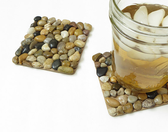 How To Make Diy River Rock Pebble Coasters Creative