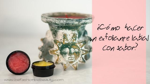 ¿Cómo hacer un exfoliante labial con sabor?