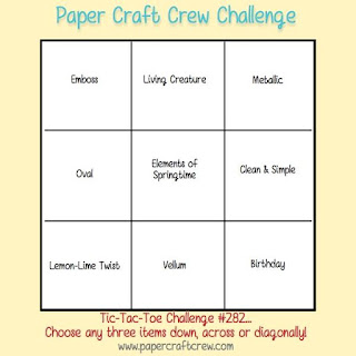 Paper Craft Crew Tic-Tac-Toe Challenge #PCC282 using Stampin' Up! products order SU craft supplies from Mitosu Crafts UK Online Shop