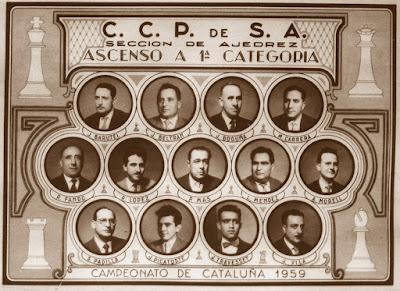 Jugadores del Casal Catòlic de Sant Andreu en 1959