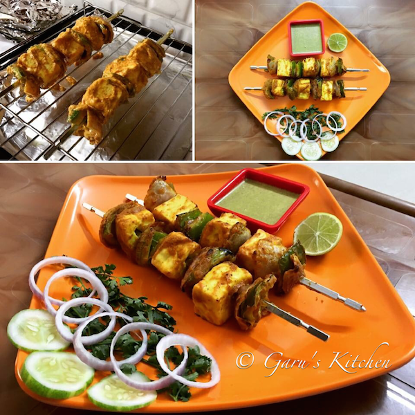 paneer tikka recipe | paneer tikka in oven | how to make restaurant style paneer tikka
