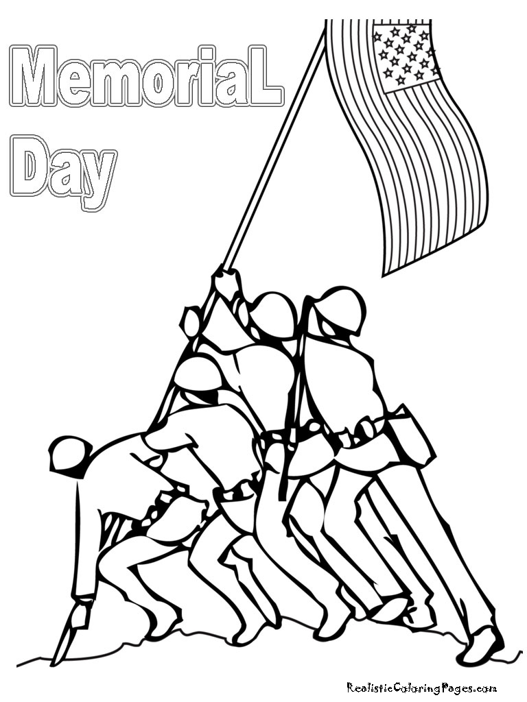 Memorial Day Coloring Pages Realistic