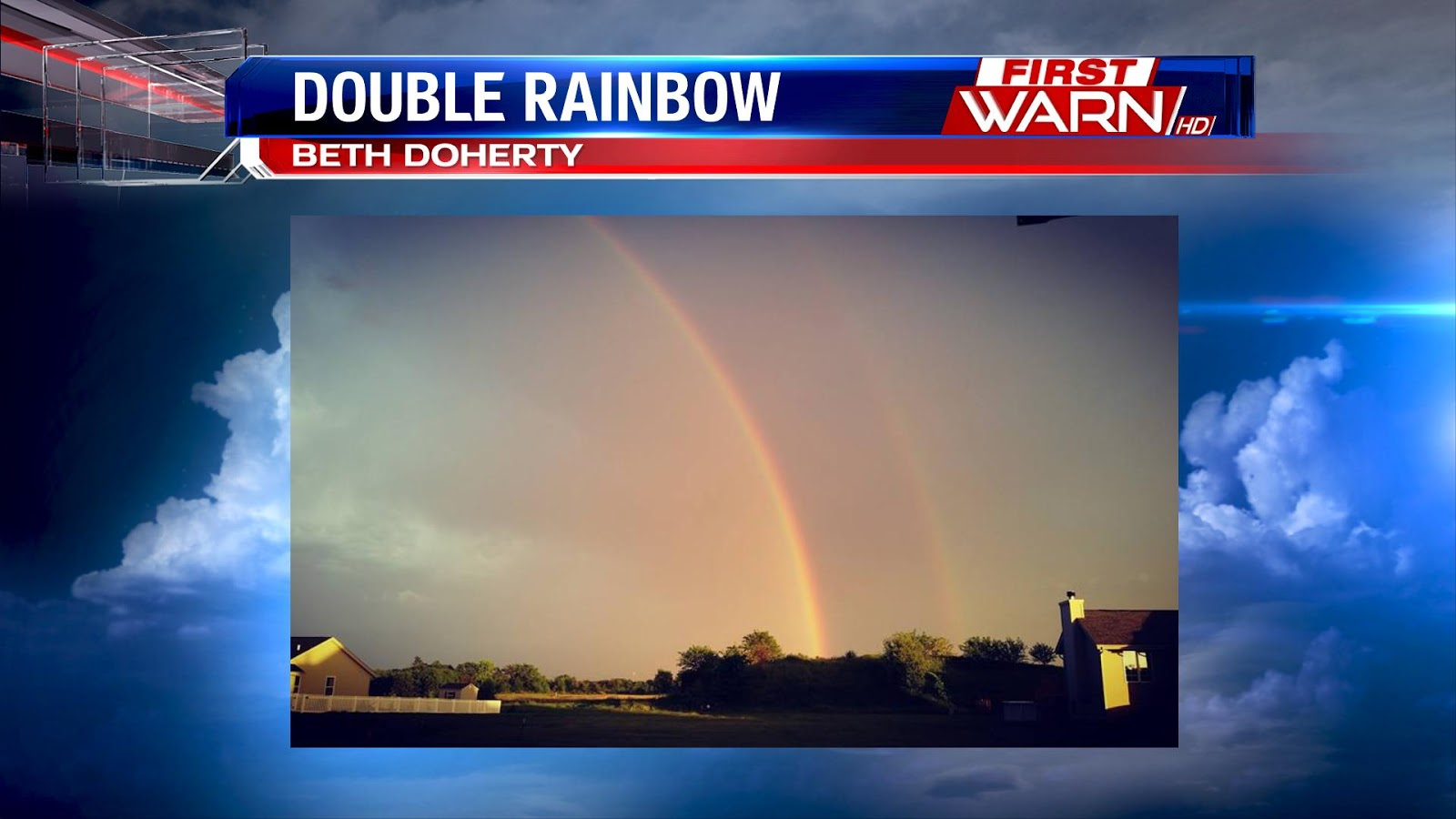 One of many shots of a double rainbow that occurred across Winnebago ...