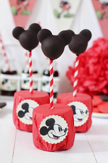 Cakepops de Mickey Mouse