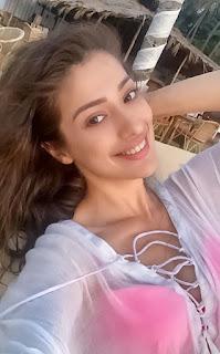 Indian Model Raai Laxmi Stills In Pink Bikini (7)