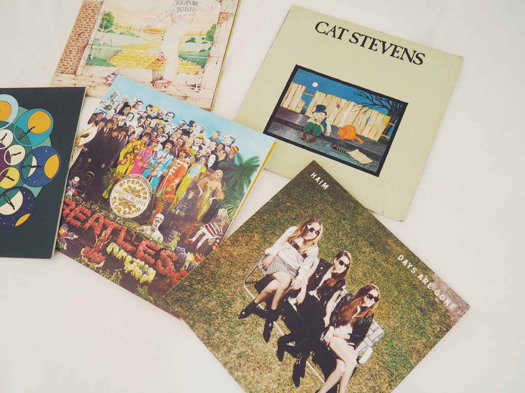 recordcollection, vinyl, vinylcollection, TheBeatlesRubberSoul, BlondieParallelLines, GeorgeHarrisonCloudNine, FleetwoodMac, DaveClarkFive, BombayBicycleClubSoLongSeeYouTomorrow, Haim, CatStevens, Elton John,