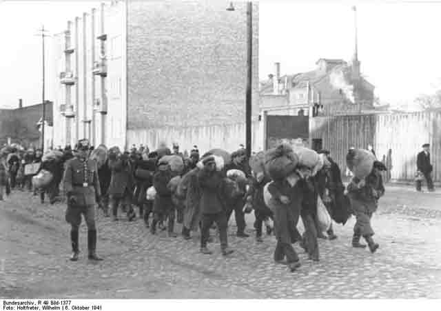 Jews being deported in Poland, 6 October 1941 worldwartwo.filminspector.com