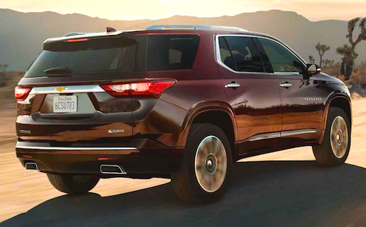 2018 Chevrolet Traverse Build and Price