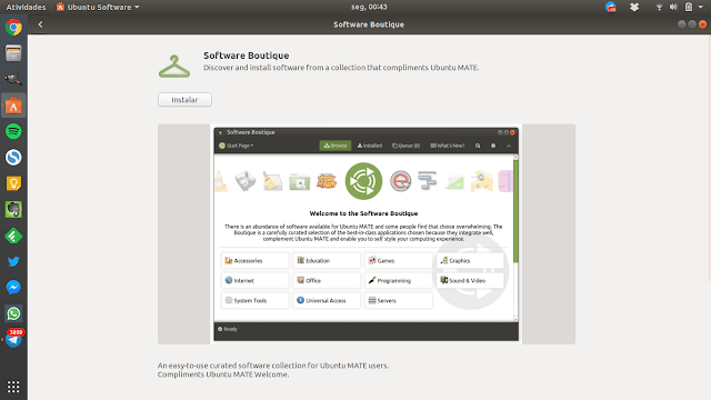 Ubuntu MATE Welcome no Ubuntu GNOME