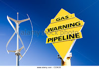 Wind Turbine by Gas Sign (Credit: ) Click to Enlarge.