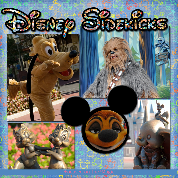 Disney Sidekicks, Chewbacca, Chip and Dale,  Disney Wordless Wednesday Blog Hop, Dumbo, Pluto, The Disney Wordless Wednesday Blog Hop, Timon, Walt Disney World