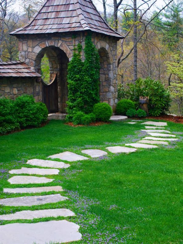 15 ideas para dise ar un camino de jard n guia de jardin - Losas para jardin ...