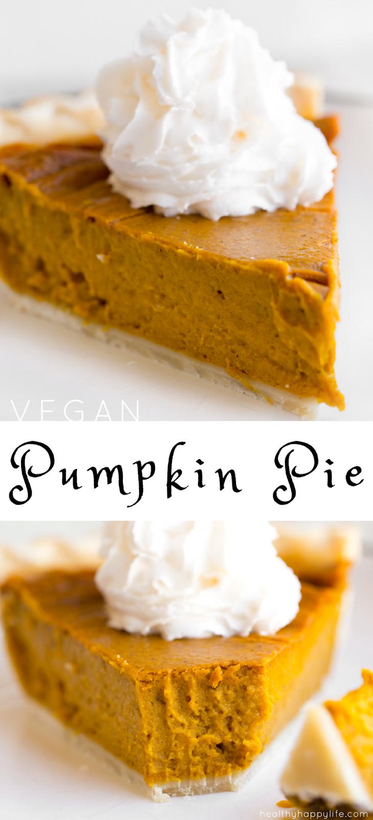 pin Vegan Pumpkin Pie