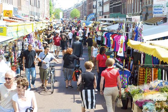 Los mercados callejeros de Ámsterdam, Holanda, viajes y turismo