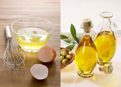 Cách trị mụn cám bằng trứng gà và dầu oliu