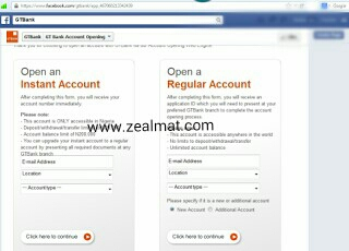 How To Open Instant GTBank Account Through Facebook