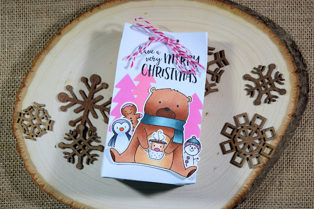 Envelope Gift Bag with Neat and Tangled Beary Merry by Jess Crafts