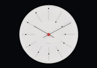 BANKERS  WALL CLOCK ARNE JACOBSEN