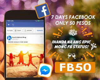 TNT FB50 – 7 Days Facebook 500MB/day for Only 50 Pesos