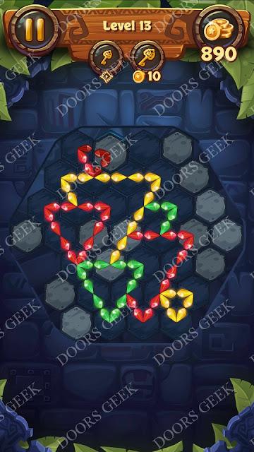 Gems & Magic [Emerald] Level 13 Solution, Walkthrough, Cheats