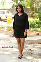 Actress Hebah Patel Stills in Black Mini Dress at Angel Movie Teaser Launch  0016.JPG